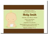 Baby Neutral Caucasian - Baby Shower Petite Invitations