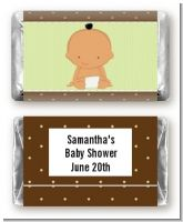 Baby Neutral Hispanic - Personalized Baby Shower Mini Candy Bar Wrappers