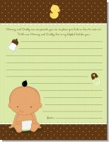 Baby Neutral Hispanic - Baby Shower Notes of Advice