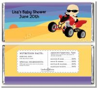 Baby On A Quad - Personalized Baby Shower Candy Bar Wrappers