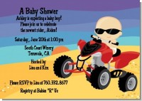 Baby On A Quad - Baby Shower Invitations