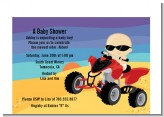 Baby On A Quad - Baby Shower Petite Invitations