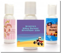 Baby On A Quad - Personalized Baby Shower Lotion Favors