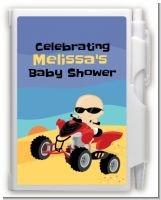 Baby On A Quad - Baby Shower Personalized Notebook Favor