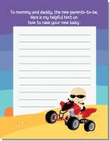 Baby On A Quad - Baby Shower Notes of Advice