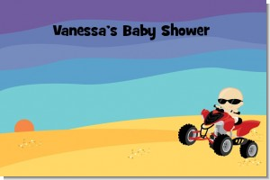 Baby On A Quad - Personalized Baby Shower Placemats