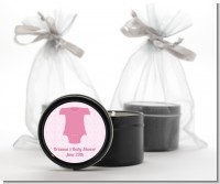 Baby Outfit Pink - Baby Shower Black Candle Tin Favors