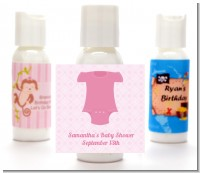 Baby Outfit Pink - Personalized Baby Shower Lotion Favors