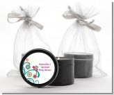 Baby Sprinkle - Baby Shower Black Candle Tin Favors
