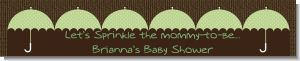 Baby Sprinkle Umbrella Green - Personalized Baby Shower Banners