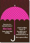 Baby Sprinkle Umbrella Pink - Baby Shower Invitations