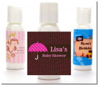 Baby Sprinkle Umbrella Pink - Personalized Baby Shower Lotion Favors