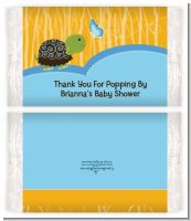 Baby Turtle Blue - Personalized Popcorn Wrapper Baby Shower Favors