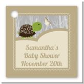 Baby Turtle Neutral - Personalized Baby Shower Card Stock Favor Tags
