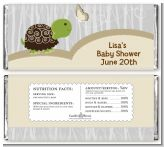 Baby Turtle Neutral - Personalized Baby Shower Candy Bar Wrappers