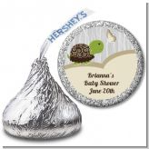 Baby Turtle Neutral - Hershey Kiss Baby Shower Sticker Labels