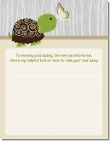 Baby Turtle Neutral - Baby Shower Notes of Advice