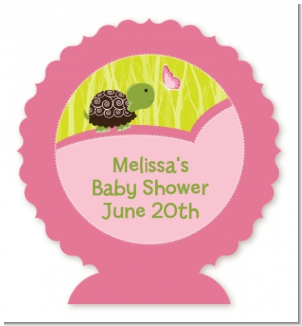 Baby Turtle Pink - Personalized Baby Shower Centerpiece Stand