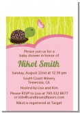 Baby Turtle Pink - Baby Shower Petite Invitations