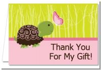 Baby Turtle Pink - Baby Shower Thank You Cards