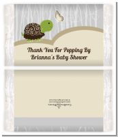 Baby Turtle Neutral - Personalized Popcorn Wrapper Baby Shower Favors