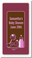 Baby Bling Pink - Custom Rectangle Baby Shower Sticker/Labels