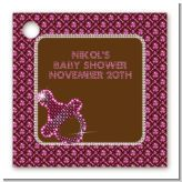Baby Bling Pink - Personalized Baby Shower Card Stock Favor Tags