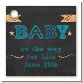 Baby Boy Chalk Inspired - Personalized Baby Shower Card Stock Favor Tags