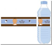Baby Boy Hispanic - Personalized Baby Shower Water Bottle Labels
