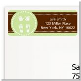 Baby Feet Pitter Patter Neutral - Baby Shower Return Address Labels