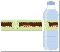 Baby Feet Pitter Patter Neutral - Personalized Baby Shower Water Bottle Labels