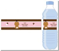 Baby Girl African American - Personalized Baby Shower Water Bottle Labels