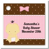 Baby Girl Asian - Personalized Baby Shower Card Stock Favor Tags