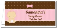 Baby Girl Caucasian - Personalized Baby Shower Place Cards