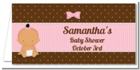Baby Girl Hispanic - Personalized Baby Shower Place Cards