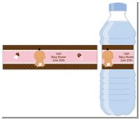 Baby Girl Hispanic - Personalized Baby Shower Water Bottle Labels