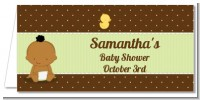 Baby Neutral African American - Personalized Baby Shower Place Cards