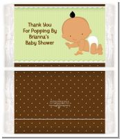 Baby Neutral Hispanic - Personalized Popcorn Wrapper Baby Shower Favors