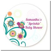 Baby Sprinkle - Round Personalized Baby Shower Sticker Labels