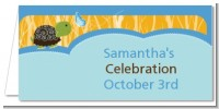 Baby Turtle Blue - Personalized Baby Shower Place Cards