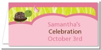 Baby Turtle Pink - Personalized Baby Shower Place Cards