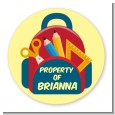 Backpack - Round Personalized School Sticker Labels thumbnail