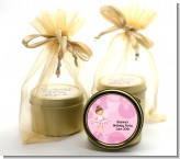 Ballet Dancer - Birthday Party Gold Tin Candle Favors