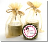 Ballerina - Birthday Party Gold Tin Candle Favors