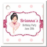 Ballerina - Personalized Birthday Party Card Stock Favor Tags
