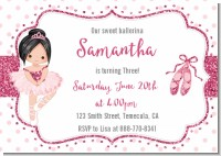 Ballerina - Birthday Party Invitations