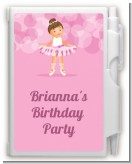 Ballet Dancer - Birthday Party Personalized Notebook Favor