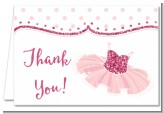 Ballet Dancer - Birthday Party Thank You Cards