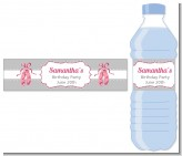 Ballerina - Personalized Birthday Party Water Bottle Labels