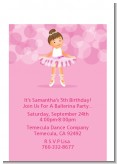 Ballet Dancer - Birthday Party Petite Invitations